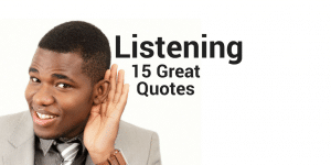 15 great quotes about listening