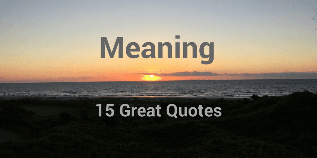Quotes With Meaning Extraordinary 48 Great Quotes About Meaning Especially At Work